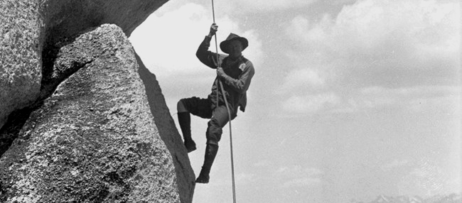 Old school abseiling technique